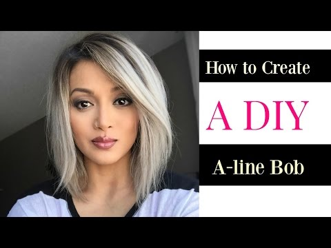 How to Create a DIY A line Bob cut