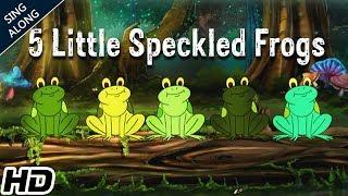 Five Little Speckled Frogs (HD) Nursery Rhyme With Lyrics   Popular Nursery Rhymes   Shemaroo Kids