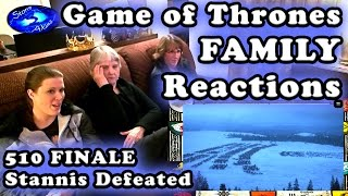 Game of Thrones FAMILY Reactions 510 | STANNIS Defeated