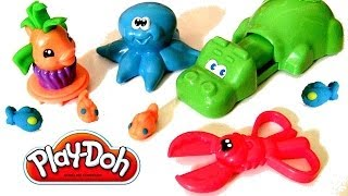Play Doh Undersea Creations Hungry Hungry Hippo Eats Nemo Octopus Ocean Animals Disney Finding Nemo