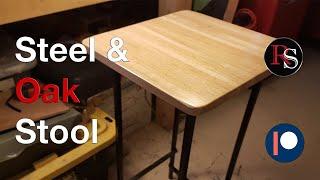 DIY - How to Make A Steel & Wood Stool / Bar Stool / Shop Stool