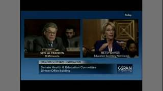 Sen. Al Franken exposes Betsy DeVos for being utterly incompetent