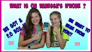 WHAT'S ON VANESSA'S iPHONE? AND OUR NEW P.O.BOX! || Taylor & Vanessa