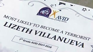 Teacher Gives 'Likely To Become A Terrorist' Award