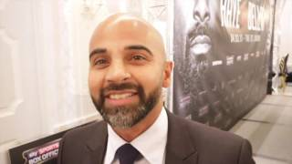 DAVE COLDWELL REACTS DAVID HAYE THROWING A PUNCH AT BELLEW & HAYE'S COMMENTS HE CARRIED THE T-SHIRTS