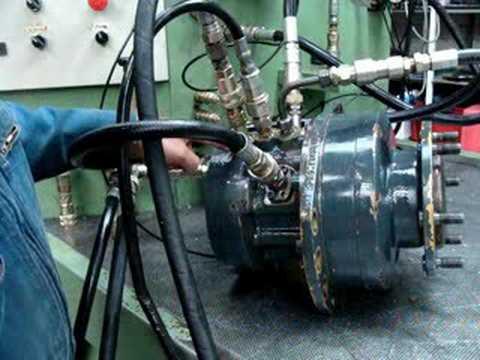 poclain essais moteur hydraulique poclain
