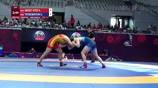 1/4 WW - 76 kg: A. MEDET KYZY (KGZ) v. G. YERKEBAYEVA (KAZ)