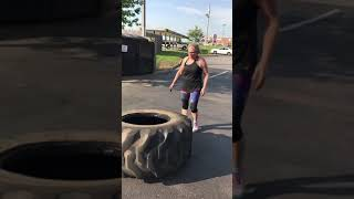 Women Flipping tires