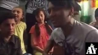 SYRIA BOY CRY LISTENING TO SONGS FAIZAL TAHIR