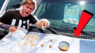 COOKING FOOD ON A CAR! *100+ DEGREES*