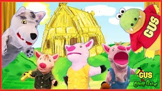 THE THREE LITTLE PIGS and the big bad wolf! Animated fairy Tales for Children Pretend Play