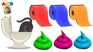 Learn Colors With Toilet Paper For Children | Learning Colours Video For Kids  by ACB CARTOON TV