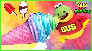 Giant Ice Cream Cones Pretend Play Food Shop for Kids! Funny Kids Video Family Fun