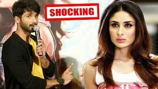 Shahid Kapoor's SHOCKING Reaction When Asked About Kareena Kapoor At Shandaar Trailer Launch