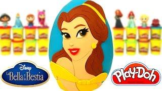 Huevo Sorpresa Gigante de Bella de La Bella y la Bestia en Español de Plastilina Play Doh