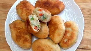 فطائر مقلية بحشوة الخضروات سهلة وسريعة (Fried Pies (Fatayer