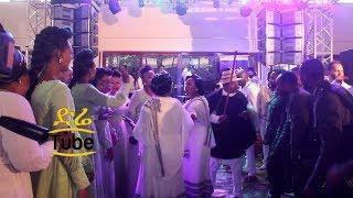 የመቅደስ ፀጋዬና የሰለሞን ሚዜዎች ያሳዩት ባህላዊ ፉከራ ጭፈራ - Actress Mekdes Tsegaye Wedding Part 1