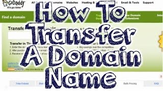 Transfer Domain Name - Step By Step