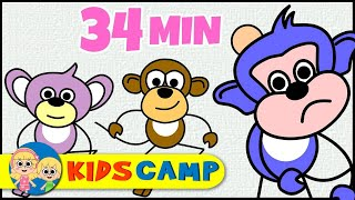 Five Little Monkeys | Classic Version | Nursery Rhymes Collection by KidsCamp