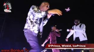 Video: WIZKID, ICE PRINCE and D'PRINCE perform MOLOWO NONI at the ACCESS MAVIN CONCERT
