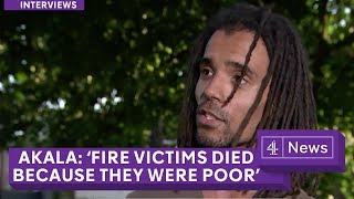 Musician Akala: People died in London fire