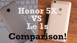 LeEco Le 1s VS Huawei Honor 5X Comparison!