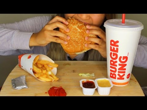 ASMR: Burger King Whopper, Fries and Chocolate Pie *Eating Sounds*