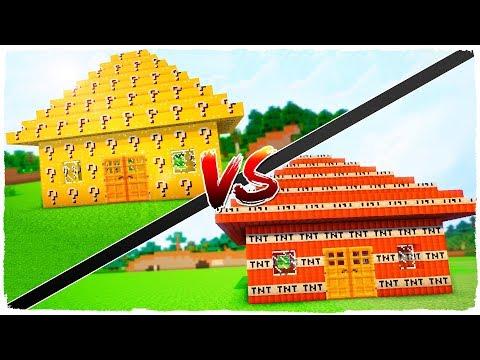 👉 CASA DE LUCKY BLOCKS VS CASA DE TNT - MINECRAFT