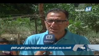 طيران الاحتلال الاسرائيلي يقصف مواقع تتيع لفصائل فلسطينية