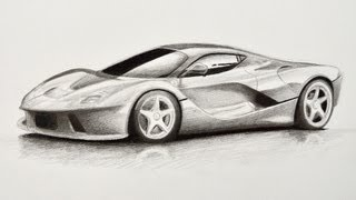 How to Draw a Car: Ferrari - Fine Art-Tips
