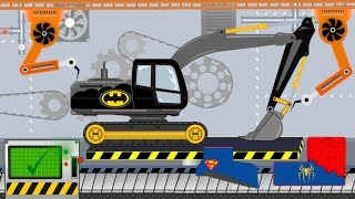 Batman Excavator | Toy Factory | Video For Kids - Koparka Batman Fabryka Zabawek - bajka
