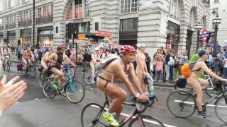 World Naked Bike Ride in London 2016