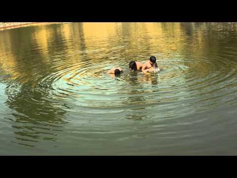 Hot Bath in ganga गंगा स्नान हॉट बाथ ,न्यूड बाथ ,nude bath