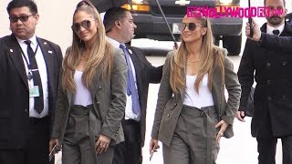 Jennifer Lopez Cuts A Stylish Figure While Arriving To Jimmy Kimmel Live! Studios In Hollywood