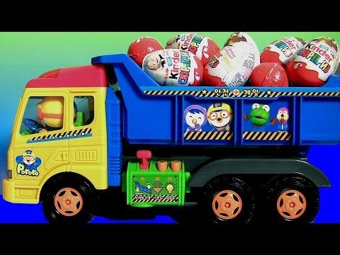Ovos Kinder Masha and the Bear Surprise eggs 킨더조이 와 � �로로 트럭과 라바 장난감 Маша и Медведь Masha i Medved