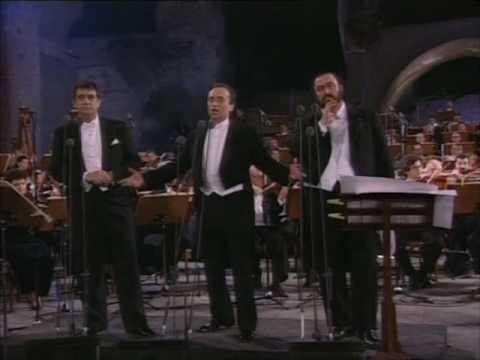 Los Tres Tenores -Nessun Dorma to choir- Roma 771990