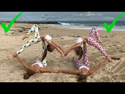 Extreme Yoga Challenge Big sisters vs Little sisters The Rybka Twins