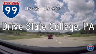 🚙 Let's Drive ...PA: I-99 from US-22 in State College to US-322 in Port Matilda