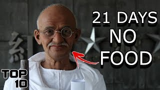 Top 10 People Who Have Gone The Longest With No Food