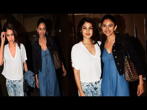 Xxx Mp4 Rakul Preet Singh Rhea Chakraborty Spotted Together At Juhu PVR Bollywood Events 3gp Sex