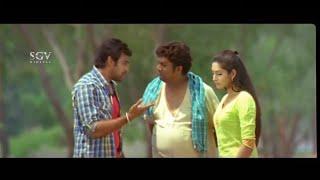 Rangayana Raghu saved Lover Chiru and Ragini from Devaraj | Gandede | Kannada Best Scenes