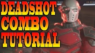 Injustice 2 DEADSHOT COMBOS! - DEADSHOT COMBO TUTORIAL