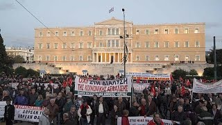 Greek pensioners protest over fears of more cuts