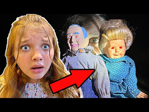 WE found CREEPY Little DOLLS HIDING in THE WOODS