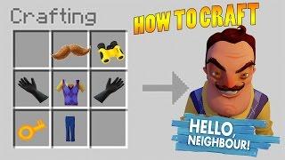 HOW TO CRAFT HELLO NEIGHBOUR MINECRAFT (Summon Hello Neighbour Minecraft)
