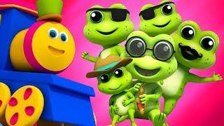 cinq petite grenouille mouchetée | bob le train | Bob Five Little Speckled Frogs