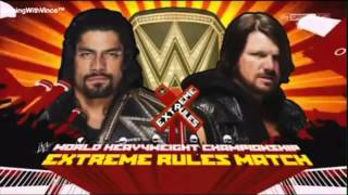 Aj Styles Vs Roman Reings/extreme Rules 2016 Math cards