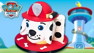 Marshall Paw Patrol Cake (Dalmatian Dog Cake) from the Popular Paw Patrol Toys