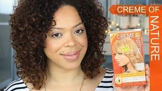 Creme Of Nature Exoctic Shine Color Review - 9.23 Light Golden Blond