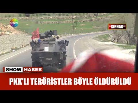 PKK'lı teröristler böyle öldürüldü!